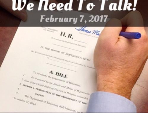 We Need To Talk! – Feb 7, 2017